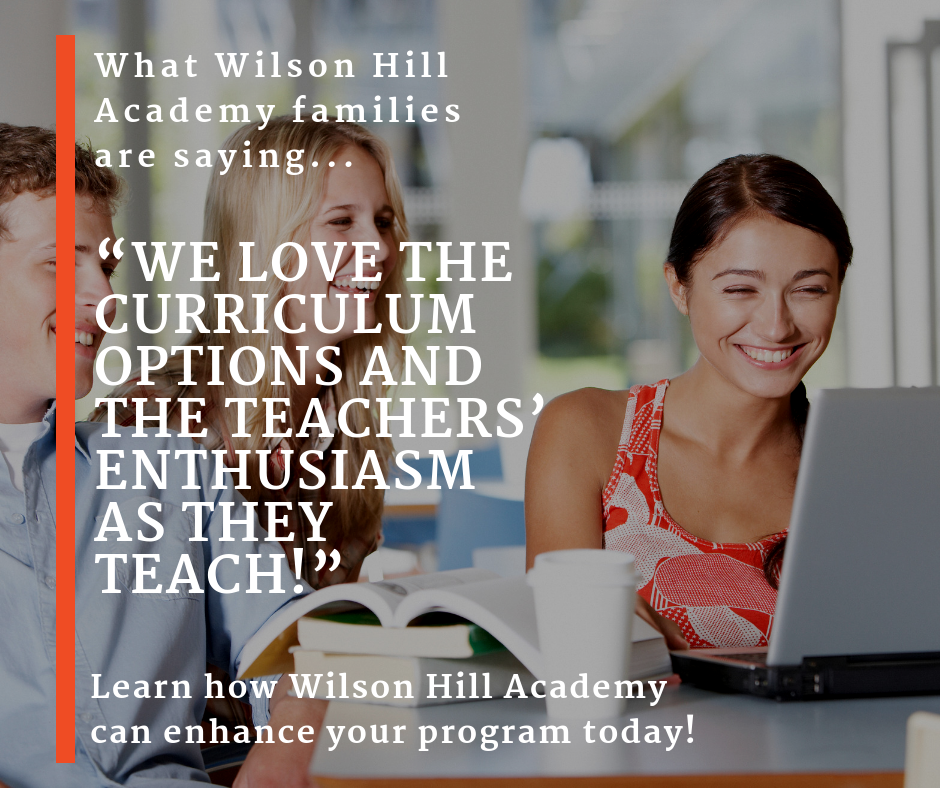 Wilson Hill Academy provides engaging and energizing teachers for all your course needs